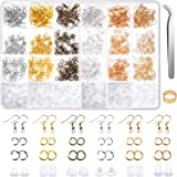 Earring Hooks, Anezus 1900Pcs Earring Making Supplies Kit with Fish Hook Earrings, Earring Backs, Jump Rings for Jewelry Maki