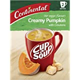 CONTINENTAL Cup-A-Soup | Creamy Pumpkin With Croutons, 2 pack, 55g