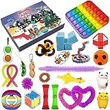 2021 Christmas Advent Calendar Toy Set, 24Pcs Holiday Christmas Countdown Calendar Sensory Fidget Toys Pack, Simple Dimple Po