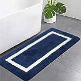 Bathroom Rugs and Mats, Microfiber Bath Shower Mat, Machine Wash Dry, Non Slip Absorbent Shaggy Bath Rug for Bathroom, Living