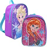 """Frozen Elsa & Anna 12"""" Mini Backpack with Reversible Sequins"""