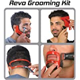 Revo Haircut Kit - Beard, Hair, Goatee, and Neckline Shaving Template Guide - Perfect Hairline Lineup and Beard Shaping Tool