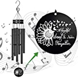 """Memorial Wind Chimes for Loss of Loved One Outside Deep Tone,30""""Sympathy Gifts Loss of Dad Mom Wife Daughter Outdoor Butterfl"""