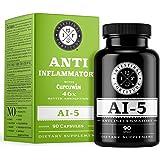 Herbal Anti Inflammatory Supplement AI-5 by Intestinal Fortitude with CurcuWIN Turmeric Curcumin Boswellia Serrata Ginger Roo