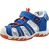 Apakowa Kid's Boy's Soft Sole Close Toe Sport Beach Sandals (Toddler/Little Kid)