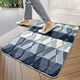 "Indoor Doormat Front Back Door Mat, 24""x35"" Water Absorbent Low-Profile Mud Mat Non Slip Large Door Rug for Inside Entrance M"