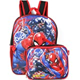 "Spiderman Marvel 16"" Backpack with Detachable Lunch Box"