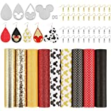 Cartoon Mouse Leather Earring Making Kit - 9 PCS Faux Leather Sheets and 5 PCS Cutting Dies for DIY Earring Crafts