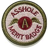WZT Asshole Merit Badge Morale - Tactical Patch (Green)