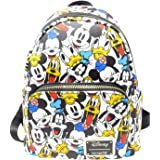 Loungefly Disney The Fab 5 Mickey Minnie Allover Print Double Strap Shoulder Bag Purse