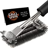 Grill Spark Grill Brush and Scraper 46cm Stainless Steel Wire Bristles Brush Barbecue Cleaning Brush for Weber Gas/Charcoal G