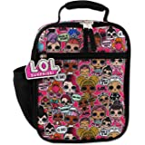 L.O.L. Surprise! Girls Soft Insulated School Lunch Box (One Size, Black/Pink)