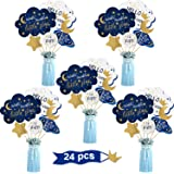 24 Pieces Twinkle Twinkle Little Star Centerpiece Sticks for Star Party Table Toppers Birthday Party Decoration Baby Shower B