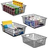 Sorbus Farmhouse Storage Bin Baskets with Handles, Stackable Wire Style Basket Organizer Home Décor, Kitchen Pantry, Bathroom