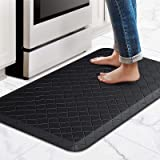 """HappyTrends Kitchen Floor Mat Cushioned Anti-Fatigue Kitchen Rug,17.3""""x 28"""",Thick Waterproof Non-Slip Kitchen Mats and Rugs H"""