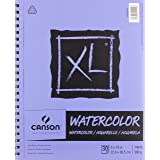 Canson XL Series Watercolor Textured Paper, Use with Paint Pencil Ink Charcoal Pastel and Acrylic, Side Wire Bound, 140 Pound