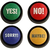 Granatan Yes, NO, Sorry, Maybe - Sound Buttons - Set of 4