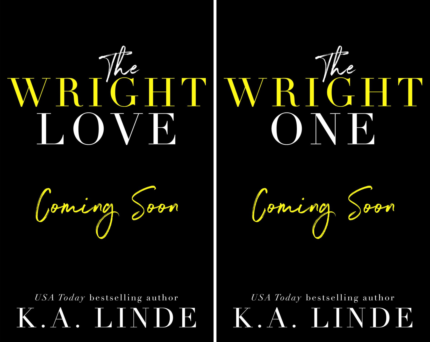 Wright Love Duet (2 Book Series)