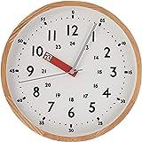 INTERFORM INC. インターフォルム 電波時計 掛け時計 ウォールクロック Storumanストゥールマン インテリア 見やすい レッド CL-2937RD 知育 子ども