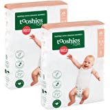 Tooshies by TOM Size 2 Infant Bamboo Disposable Eco Nappies 4-8 kg, Size 2, 96 count