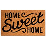 Pure Coco Coir Doormat with Heavy-Duty PVC Backing - Home Sweet Home - Size: 17-Inches x 30-Inches - Pile Height: 0.6-Inches