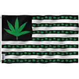 ANLEY [Fly Breeze] 3x5 Foot Marijuana Leaf USA Polyester Flag - Vivid Color and UV Fade Resistant - Canvas Header and Double