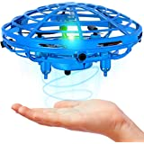 WO Mini Drone for Kids and Adults, Hand Operated Flying Toy with 360° Rotating and LED Lights, Kids Drone, Hand Drone, UFO Dr