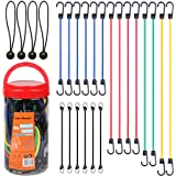"Cartman Bungee Cords Assortment Jar 24 Piece in Jar - Includes 10"", 18"", 24"", 32"", 40"" Bungee Cord and 8"" Canopy/Tarp Ball Ti"