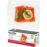 SousVide Supreme Vacuum Seal Cooking Pouches, Small Food Storage Bag, Ideal for Sous Vide Cooking, Food Safe, 8x12 inches, 1