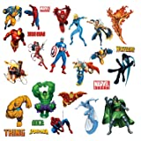 Marvel Heroes Comic - Spider-man Captain America Hulk Fantastic 4 Thing Thor Wolverine Ironman Ghost Rider Wall Decal