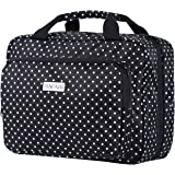 """Hanging Travel Toiletry and Cosmetic Bag for Women by SAFARI - Large (12""""x9""""x4"""") - Polka Dot - Waterproof and Durable Organiz"""
