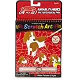 Melissa & Doug On The Go Scratch Art: Animal Families Hidden-Picture Activity Pad with Stylus