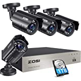 ZOSI 8CH Security Camera System HD-TVI 1080N Video DVR Recorder with 4X HD 1280TVL 720P Indoor Outdoor Weatherproof CCTV Came