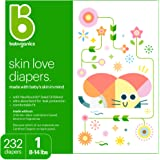 Babyganics Ultra Absorbent Diapers, Size 1, 232 Count