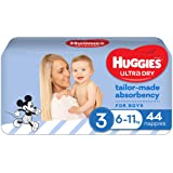 Huggies Ultra Dry Nappies Boy Size 3 (6-11kg) 44 Count