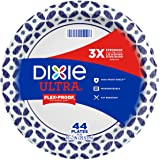 Dixie Ultra Paper Plates, 10 1/6 inch Dinner Size Printed Disposable Plates, 44 Count, (1 Pack of 44 Plates), Packaging and D