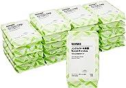 [Amazonブランド]SOLIMO ノンアルコール 除菌 ウェットティッシュ やわらか薄手タイプ 60枚入×20個 (1200枚) 日本製 グレープフルーツ種子エキス配合