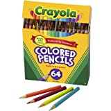 CRAYOLA 683364 Mini Coloured Pencils, 64, Gift Box, Drawing and Colouring, Sharpener Included