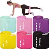 Aoralivre Fabric Resistance Bands for Legs,Butt,Glutes,Arms Non-Slip Stretch Workout Exercise Booty Bands 6 Levels for Women
