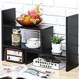 Expandable Wood Desktop Bookshelf Desktop Organizer Office Storage Rack Wood Display Shelf - Free Style Display True Natural