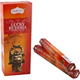 Shubhkart Lucky Buddha Incense Sticks - (Pack of 6 Tubes Inside The Box) 120 Sticks