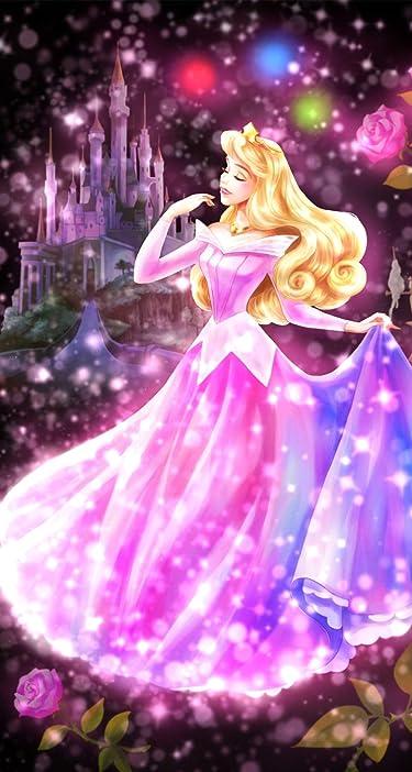 ディズニー  iPhone/Androidスマホ壁紙(744×1392)-1 - 眠れる森の美女 恋する心の煌めき(オーロラ)