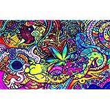 "NewBrightBase Psychedelic Trippy Art Fabric Cloth Rolled Wall Poster Print - 40""x24""(100cmx60cm) A"