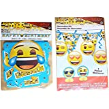 Emoji Birthday Banner & 7 Piece Decorating Kit