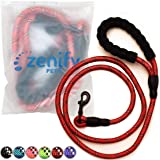 Zenify Pets Dog Lead - Durable Strong Chew Resistant Slip Lead Nylon Rope Padded Handle Mountain Climbing Harness Pet Puppy T