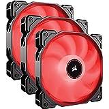 Corsair AF120 LED, 120mm Low Noise Cooling Fan - Red LED ( Triple Pack)