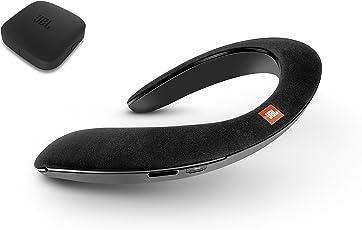 JBL SoundGear BTA ウェアラブル ネックスピーカー ワイヤレスオーディオトランスミッター付き Bluetooth/apt-X対応/31mm径スピーカー4基搭載 ブラック JBLSOUNDGEARBABLK 【国内正規品/メーカー1年保証付き】