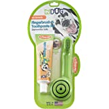 Triple-Pet Fingerbrush and Toothpaste Kit,