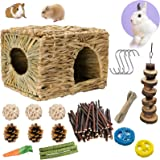 Bunny Grass House-Hand Made Edible Natural Grass Hideaway Comfortable Playhouse for Rabbits, Guinea Pigs and Small Animals to