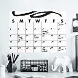 RoomMates Doodle Dry Erase Calendar Peel and Stick Giant Wall Decal   Black & White